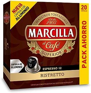 Capsulas Compatibles Nespresso®* Marcilla Ristretto 20