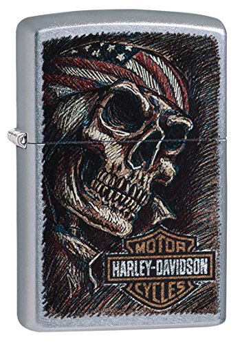 Zippo Harley-Davidson Feuerzeug, Messing, Street Chrome, One Size