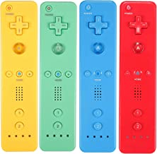 $64 » Sponsored Ad - Yosikr Wireless Remote Controller for Wii Wii U - 4 Packs Yellow+Green+Blue+Red