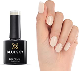 Bluesky White nail polish - 1pcs 10ml Nude Gel Polish with Milky Transparent colors, Moonlight, Curing Under UV/LED Lamp, ...
