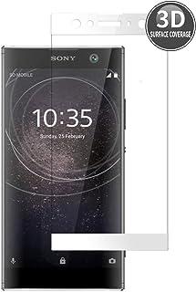 E-Hamii 3D skyddande film ersättning för Sony Xperia XA2 Ultra (vit), komplett skydd premium härdat glas skärmskydd HD ful...