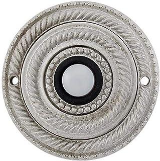 Vicenza Designs D4014 Sanzio Doorbell, Satin Nickel