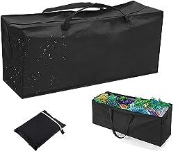 H HOME-MART Garden Storage Bag Heavy Duty Furniture Cushion Bags Waterproof Handbag Carry Case Organiser with Handles for ...