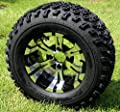 "Golf Cart 12""x 7"" Vampire Aluminum Wheels & 23"" All Terrain Tires-set Of 4"