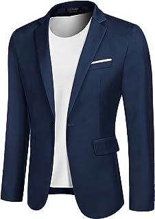 COOFANDY Men's Casual Sport Coats Slim Fit Blazer Jacket Lightweight One Button Suit Jacket