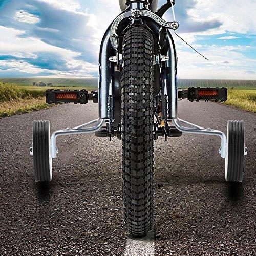 Dilwe Stützräder, Fahrradtraining Stabilisator für 12/14/16 Zoll Rad für Kinderfahrrad