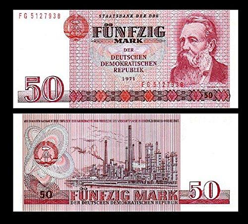 *** 2 Stück 50 DDR Mark Mark Geldscheine 1971 Alte Währung - Reproduktion ***