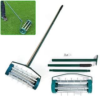 Rolling Lawn Aerator Roller Spike Tool Rolling Garden Scarifier Yard Grass Heavy Duty