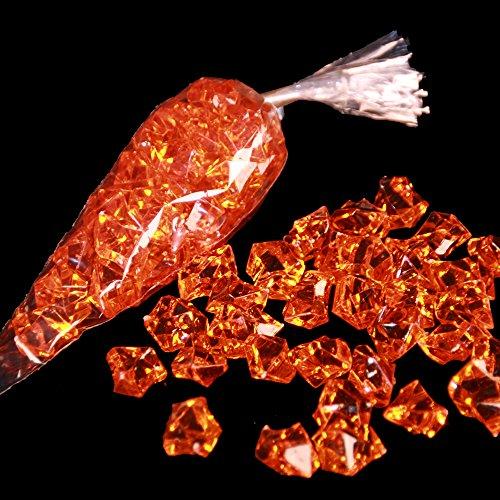 Pierre décorative-acrylsteine orange brillant env. 25 mm x 20 mm par pierre 32 pierres pro sac - 3 sacs décoratifs ou bastelgranulat que les couleurs kunststoffsteine utilisations multiples