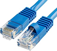 Cmple - Cat5e Network Ethernet Cable - Computer LAN Cable 1Gbps - 350 MHz, Gold Plated RJ45 Connectors - 100 Feet Blue