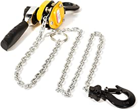 TUPARTS 0.25T 1.5M Lever Block Chain Hoist Puller Hand Pull Solid Grips