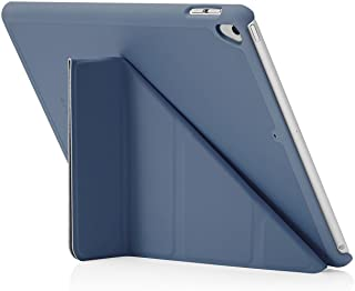 "Pipetto Origami iPad Case 9.7"" (2017/2018) 6th Generation & Air 1 with 5 in 1 Stand & auto Sleep/Wake Function Navy"