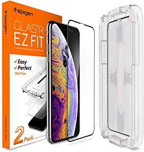 Spigen Tempered Glass Screen Protector Designed for Apple iPhone Xs (2018) / iPhone X (2017) (2 Pack) - Maximum Protection