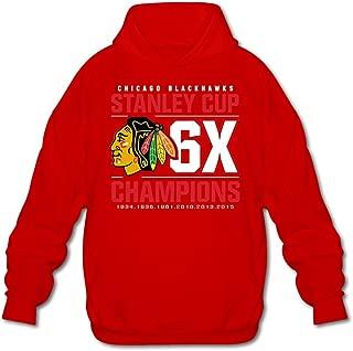 Agongda Man's CHICAGO BLACKHAWKS VICTOR Sweatshirt XL Red