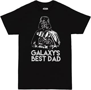 تي شيرت للبالغين مطبوع عليه Star Wars Galaxy's Best Dad