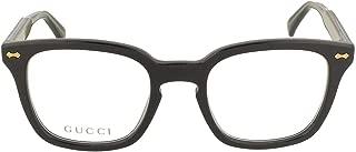GG 0184O 001 Black Plastic Square Eyeglasses 50mm