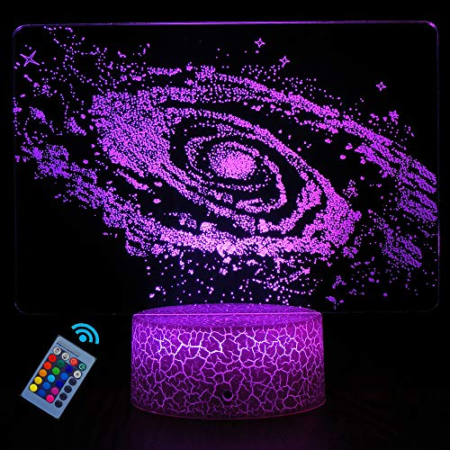 HYODREAM Galactic System 3D Optical Illusion Lamp Universe Space Galaxy Night Light for Kids Boys and Girls as Perfect Gifts on Birthdays or Holidays