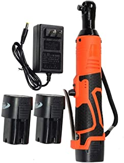 """EXCELLENT SHOPPING 3/8"""" 18V 60N.m Electric Ratchet Wrench Tool Set Cordless With Charger Kit & 2 Battery"""