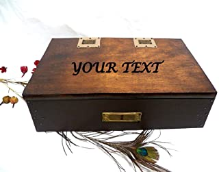 Caja Joyero Hombre, Regalo Personalizado, Caja Personalizada, Caja Vintage Hombres, Caja Texto Grabado
