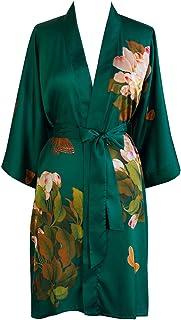 Kim + ONO Women's Kimono Robe Short - Watercolor Floral