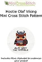 Hootie Olaf Viking Mini Cross Stitch Pattern