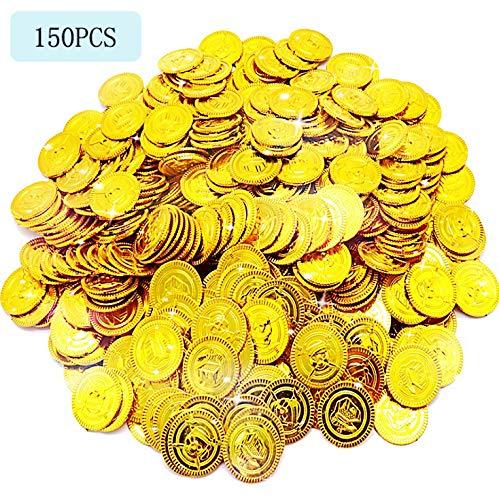 classement un comparer Joye 150 pièces d'or Pirate Jouets pour enfants Chasse au trésor Décoration pour enfants…