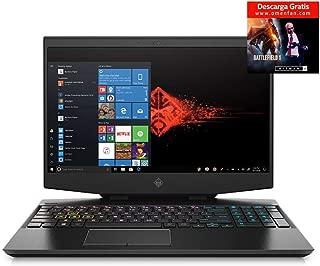 "OMEN by HP Laptop, Pantalla de 15"" FHD, Procesador Core i7-9750H, 16GB RAM, 512GB SSD, Tarjeta gráfica GeForce RTX 2070 8GB, Sistema operativo Win10 Highend, Color Shadow Black, (15-dh0005la)"