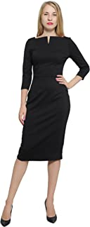 Women's Work Office Business Square Neck Sheath Midi Dress