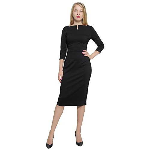 d7ec20146f4 Marycrafts Women s Work Office Business Square Neck Sheath Midi Dress