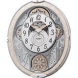 リズム(RHYTHM) 置き時計・掛け時計 白 45.7x37.9x8.5cm 掛け時計 電波 アナログ からくり 48曲 メロディ 8MN407RH03