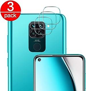 [3 Pack] Cristal Templado para Lente Cámara de Xiaomi Redmi Note 9, Ultra Fino Protector 2.5D 9H de Dureza Cámara Trasera Lente Película de Pantalla