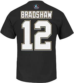 Terry Bradshaw Pittsburgh Steelers Majestic NFL Eligible Receiver II HOF T-Shirt (L)