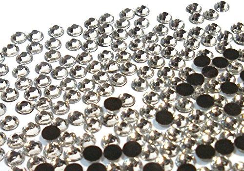 Hotfix Strasssteine, Crystal 720stk 6mm SS30 zum Aufbügeln, Hotglue, Glitzersteine Rhinestone Glass Strass Perlen
