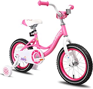 102909df67ff JOYSTAR Girls Bike with Training Wheels for 14 & 16 Inch Bike, Kickstand  for 18