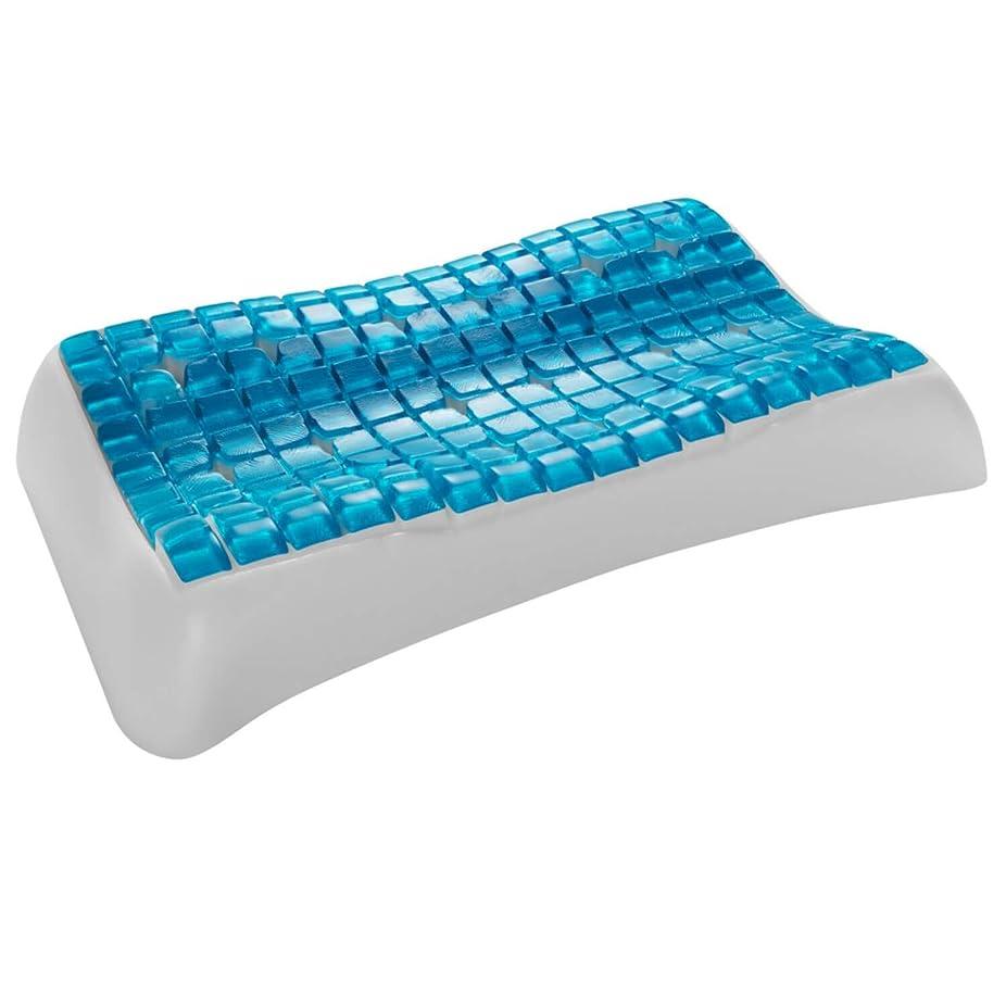 生きるホット台無しにTechnogel - 合成繊維製頚椎枕、13 cm、カラー:ホワイト