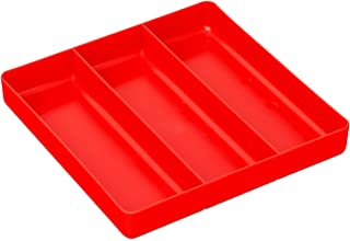 Ernst Manufacturing Organizer Tray, 3-Compartments, Red