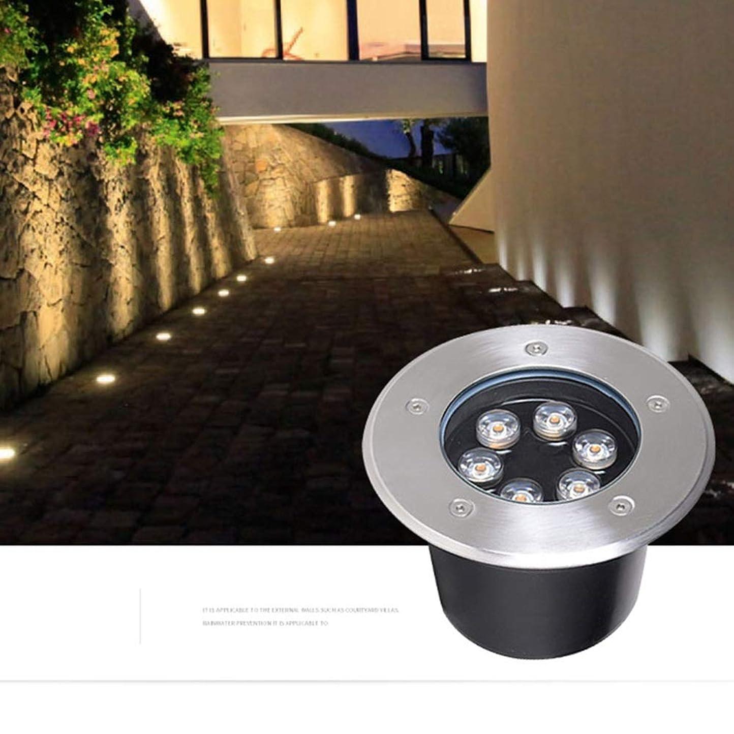 ホット作り上げるパークAMDHZ LED地下光シンプルモダン304ステンレススチール+アルミ合金ガーデン、屋外プール、7色、パワーの11種類、4パック (Color : A, Size : 18W)