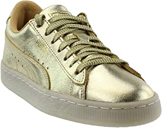 PUMA Boys Suede 50Th Gold Junior Casual Sneakers,