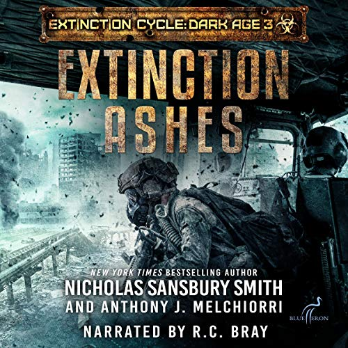 Extinction Ashes audiobook cover art