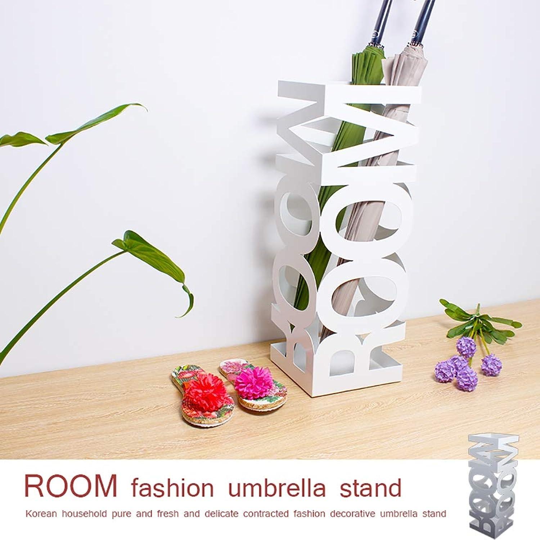 Metal Style Household Umbrella Stand,Hotel Simple Decoration Waterproof Umbrella Storage Rack,Umbrella Bucket,White