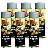 Motip Dupli - Fast Finish Haftgrund Grundierung Rostschutz Spraydose 500ml grau 6 Stück