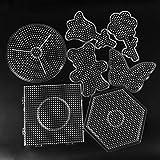 fedsjuihyg 5mm Hama Beads Pared Perforada Juguete Cuentas Herramienta Educativa Tangram Rompecabezas Juego Plantilla Niños De Juguete con Los Niños