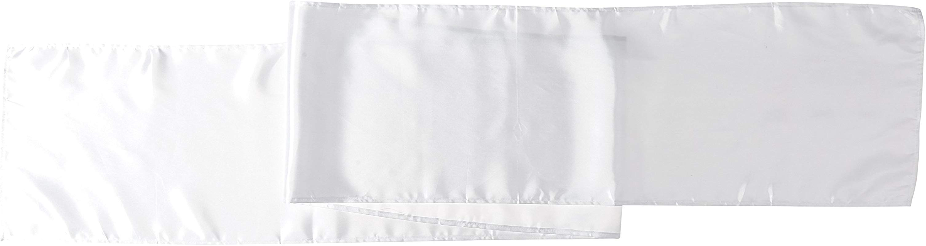 LinenTablecloth 14 X 108 Inch Satin Table Runner White