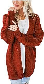 Howely Women Autumn Winter Open Front Long Sleeve Loose Knit Cardigan