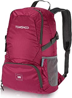 TOMSHOO 30L Backpack Foldable Packable Ultra Lightweight Tear & Waterproof Water-Resistant Nylon Handy Backpack Travel Trekking Bag Hiking Dayback Holiday Bags Outdoor