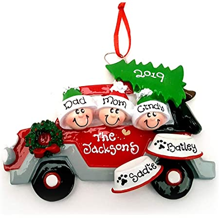 red car personalized ornament Keepsake Ornament 2nd year ornamnet car ornament 2nd Christmas Ornament kids ornament second Christmas