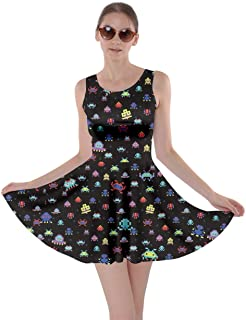 cartoon print skater dress