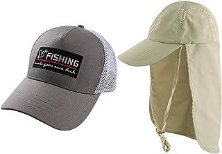 AKASO 2 件装男式棒球帽和带帽檐太阳帽,钓鱼帽,防紫外线狩猎帽