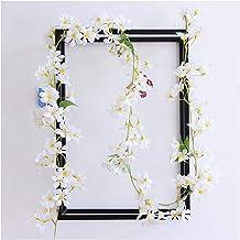 126 bloemen 1 stks zijde rose bruiloft decoratie klimop rotan kunstmatige bloem boog decoratie en groene blad muurslinger...