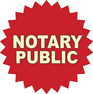 notary public window decal